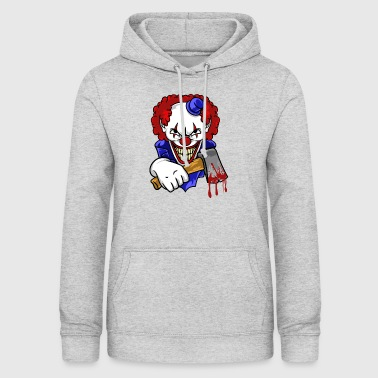 Bad Clown with Bloody Ax Horror T-Shirt | Nakos - Bluza damska z kapturem