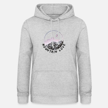 Mountain Love - Mountain & Summiteer Design - Sudadera con capucha para mujer