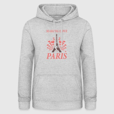 Paris France aime la tendance - Sweat à capuche Femme