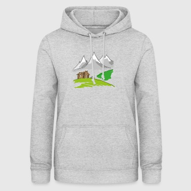 MTB mountain bike landscape - Women's Hoodie