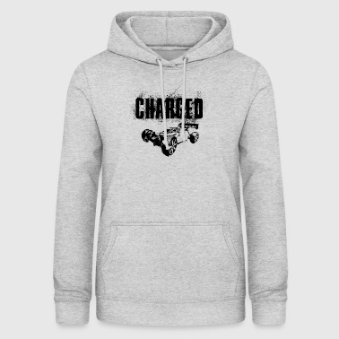 RC Car Racing On Off-Roader CHARGED BLACK - Women's Hoodie
