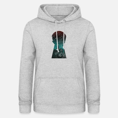 Smog Gift silhouette city skyline keyhole - Women's Hoodie