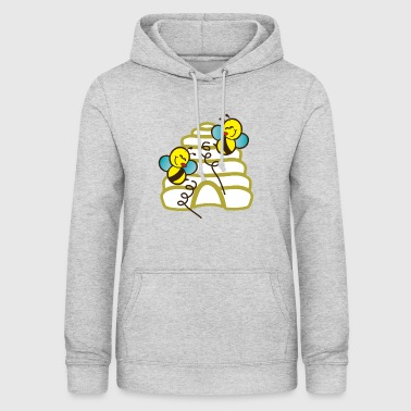 Bees play in front of bee nest - Women's Hoodie