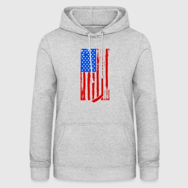 Team Usa USA Eishockey-Team-Flagge - Frauen Hoodie
