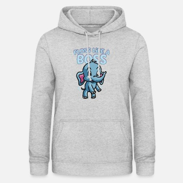 Dental Floss Like A Boss Elephant Flossing Dance Floss - Women's Hoodie