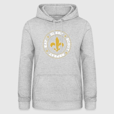 Boy Eat Sleep Scout Repeat - Scout Scouting - Women's Hoodie