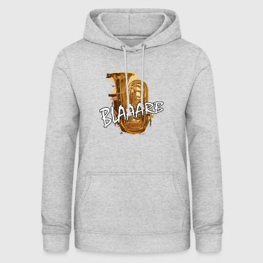 Wind blaaarb tuba music wind instrument - Women's Hoodie
