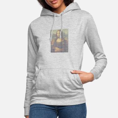 4e519e577bbee7 Lisa Mona Lisa czcionka - Bluza damska z kapturem