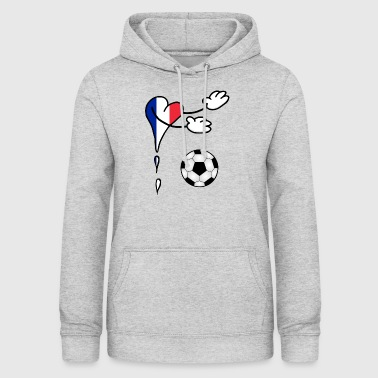 French Flag Fanshirt flag football France - Women's Hoodie