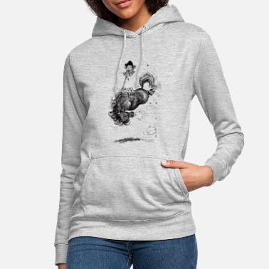 Thelwell - Pony springing - Women's Hoodie