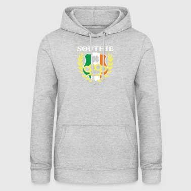 Southie Brass Knuckle Irish Flag St Patricks Day - Women's Hoodie