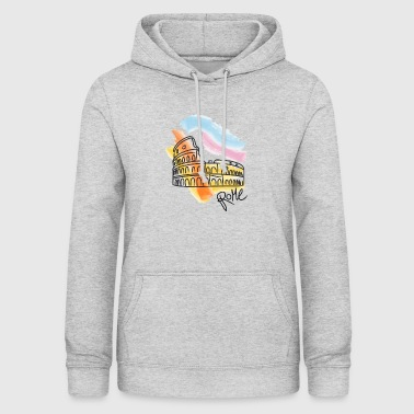 Rome Colosseum drawing - Women's Hoodie