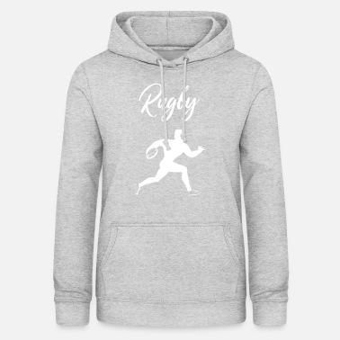 Rugby rugby tackle scrum ruck penalty rough Geschenk - Frauen Hoodie