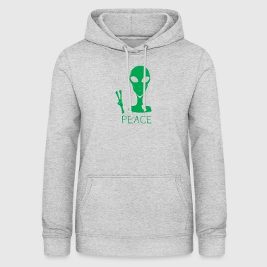 Alien Peace Sign Hånd T-Shirt Sjov UFO - Dame hoodie