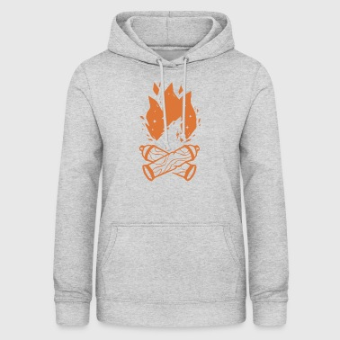 Spray Can Fire - Wolf - Women's Hoodie
