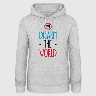 DISARM THE WORLD - GUNS DOWN - Felpa con cappuccio da donna