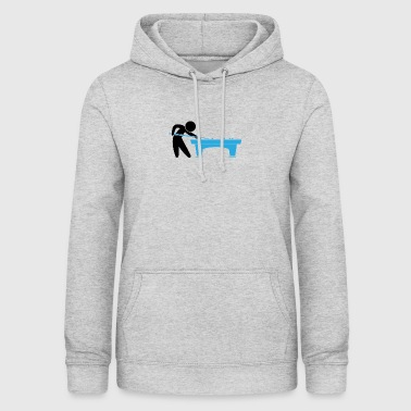 A Pool Player Is On The Pool Table - Women's Hoodie