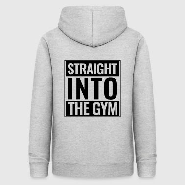 Straight Into The Gym Logo black - Women's Hoodie