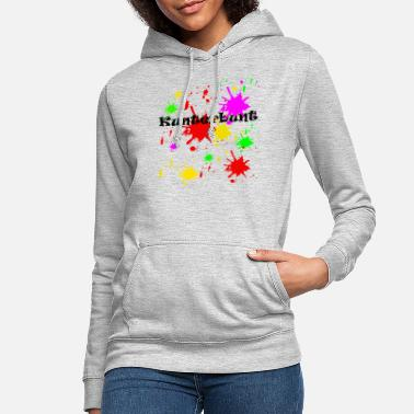 Colour Motley color splashes, painting - Women's Hoodie