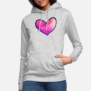 364031de Hjerter Med hjerte rosa hjerte - Hættetrøje dame
