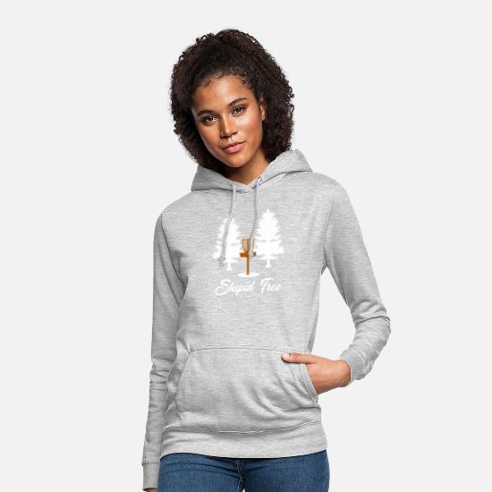 Game Hoodies & Sweatshirts - Silly Tree Disc Golf - Women's Hoodie light heather grey