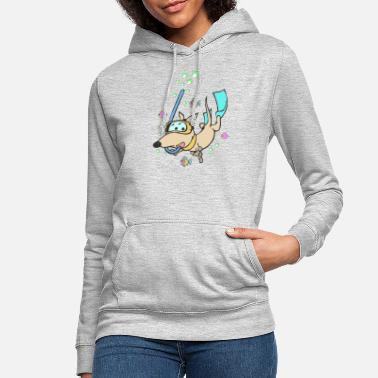 Diving Diver Dog Dachshund Fish Underwater - Women's Hoodie