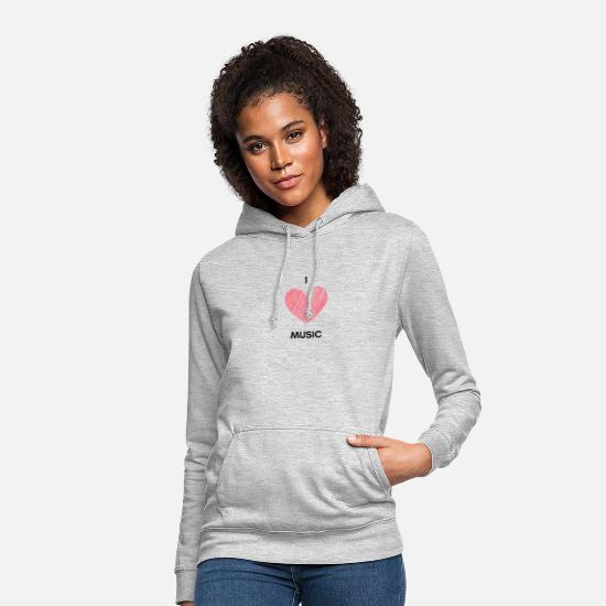 Love Hoodies & Sweatshirts - I love music - Women's Hoodie light heather grey