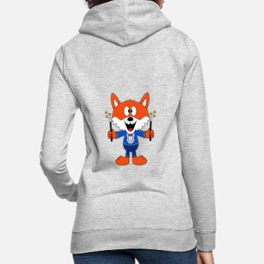 Trend Funny fox - magician - magician - magic - fun - Women's Hoodie
