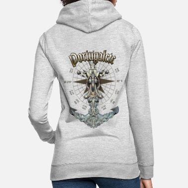 Portugalete Anchor Nautical Sailing Boat Summer - Women's Hoodie