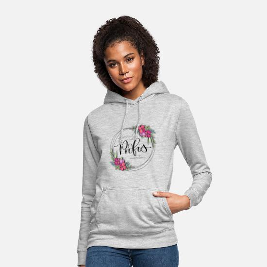 Floral Hoodies & Sweatshirts - Work with experts one time - Women's Hoodie light heather grey