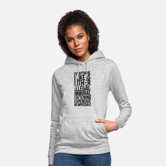 Awesome Hoodies & Sweatshirts - everything i like - Women's Hoodie light heather grey