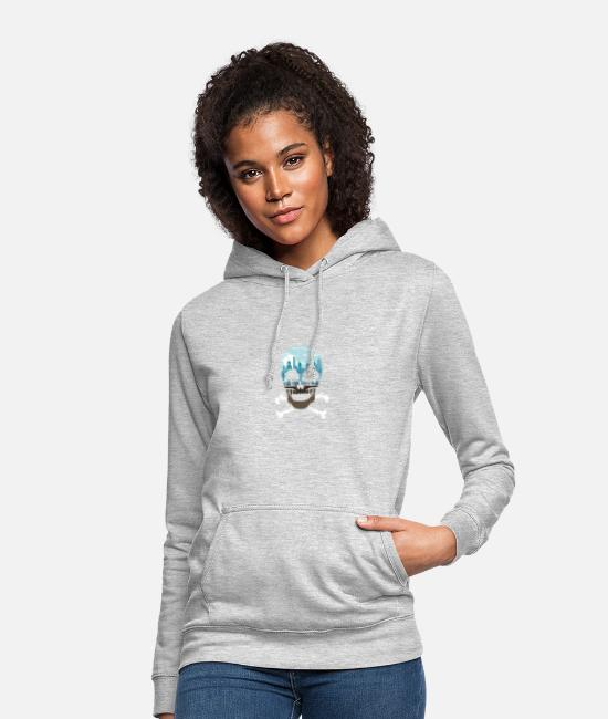 Skull And Crossbones Hoodies & Sweatshirts - Death City - Women's Hoodie light heather grey