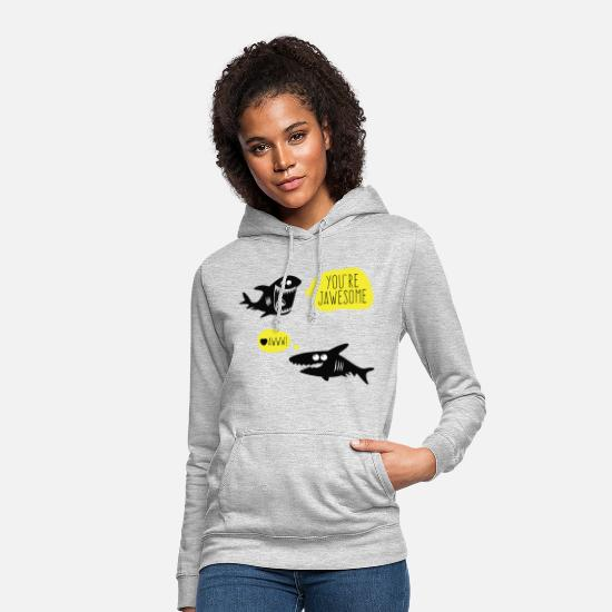 Birthday Hoodies & Sweatshirts - Jaws Awesome Jawesome Graphic - Women's Hoodie light heather grey