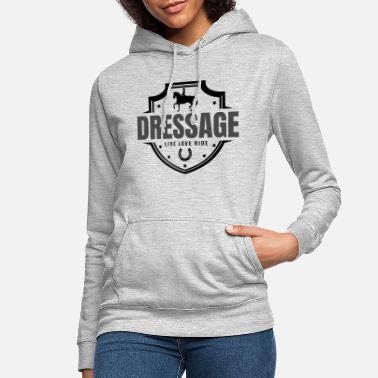 Dressage dressage, chevaux, dressage - Sweat à capuche Femme