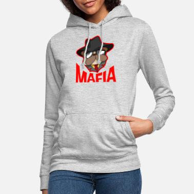 Gangster Mafia gangster pug with cigar gift - Women's Hoodie