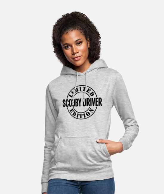 Pilot Hoodies & Sweatshirts - scooby driver limited edition stamp copy - Women's Hoodie light heather grey