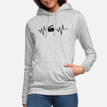 Cinema Heartbeat Filmflap / Movie / Cinema / Cinema / Film - Women's Hoodie