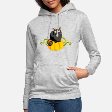 Cat with pumpkin - Cat and Pumpkin - Women's Hoodie