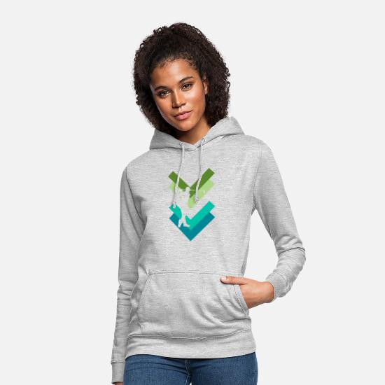 Golf Hoodies & Sweatshirts - Golf swing - Women's Hoodie light heather grey