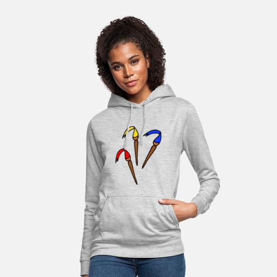 Gift Idea Hoodies & Sweatshirts - Brush colorful colors - Women's Hoodie light heather grey