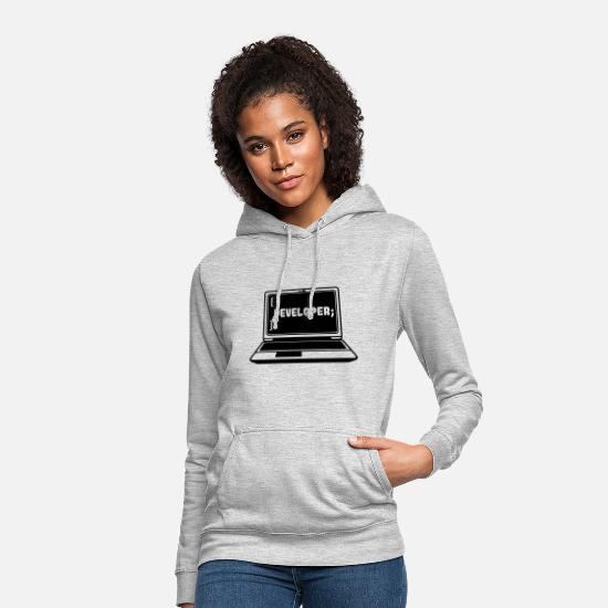 Calculator Hoodies & Sweatshirts - Developer Programmer Software Developer PC - Women's Hoodie light heather grey