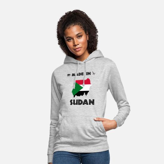 Continent Hoodies & Sweatshirts - AFRICA SUDAN. AFRICA CONTINENT SAFARI GIFT - Women's Hoodie light heather grey