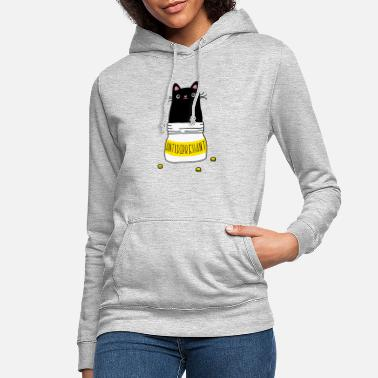 Anti Antidepressant Cat - Women's Hoodie