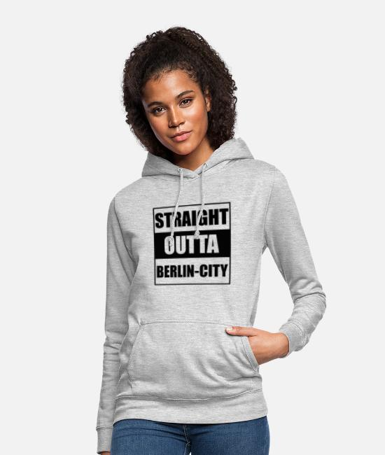 Berlin Hoodies & Sweatshirts - Berlin City T-Shirt - Women's Hoodie light heather grey