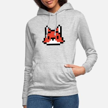 Graphic Picture Computer Pixel graphic Fox - Women's Hoodie