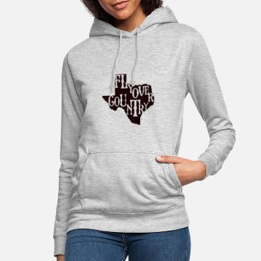 Countrymusic flyover country black - Women's Hoodie