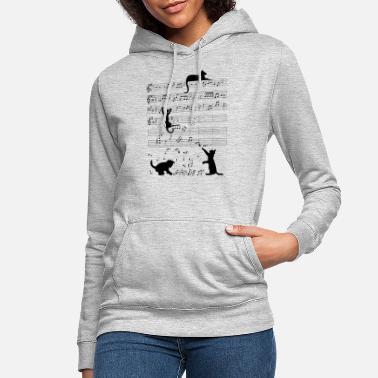 Cat Musical cat kitten music clef - Women's Hoodie
