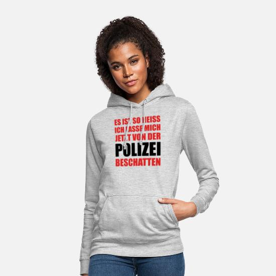 Heat Hoodies & Sweatshirts - Summer heat saying heatwave police shadowing - Women's Hoodie light heather grey