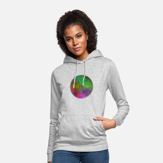Gradient Hoodies & Sweatshirts - Circle with gradient - Women's Hoodie light heather grey