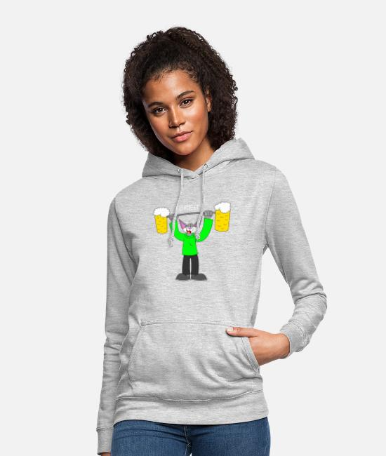 Alcoholic Hoodies & Sweatshirts - Wide! - Women's Hoodie light heather grey